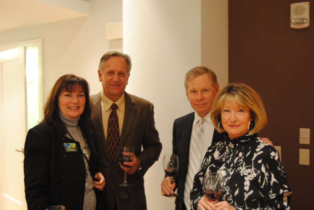 From left, Susan Newton, Joel Misler, Dennis Goodwin, and Jeannie Goodwin