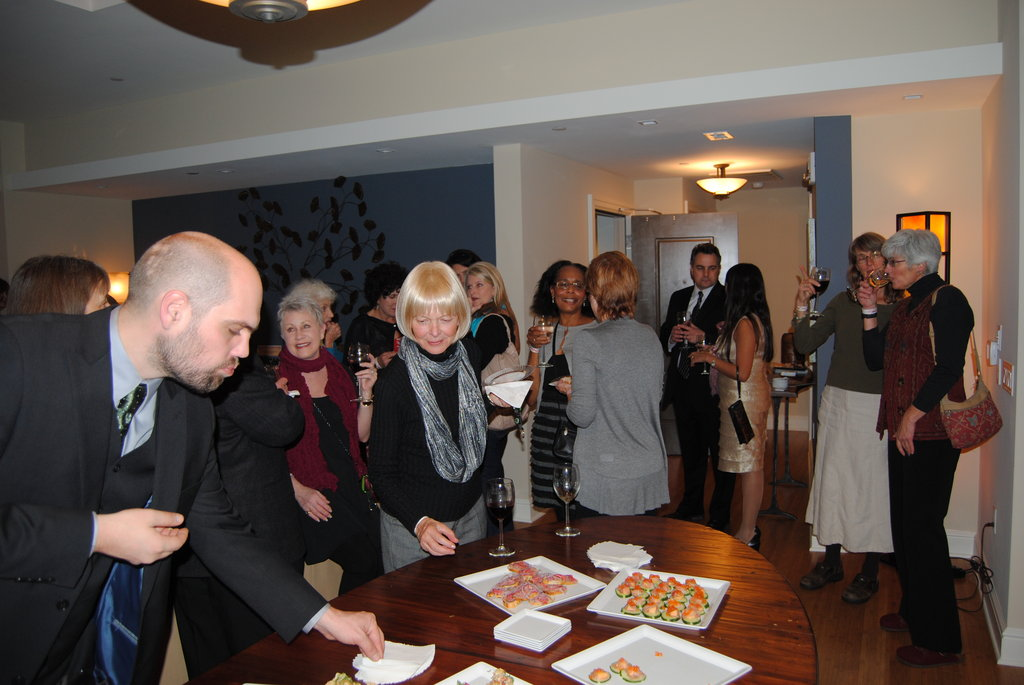 Guests at the Cheers For Charity fund-raiser at The Asheville Club at 151.