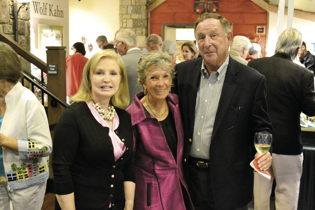 Sabine Miller with BRAHM trustees Virginia Vanstory and Lou Gottlieb