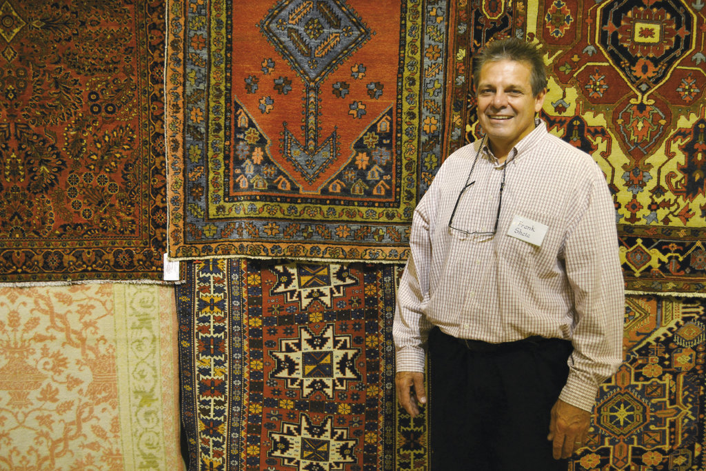Vendor Frank Shaia of Shaia Oriental Rugs displayed rugs from the early 20th century.