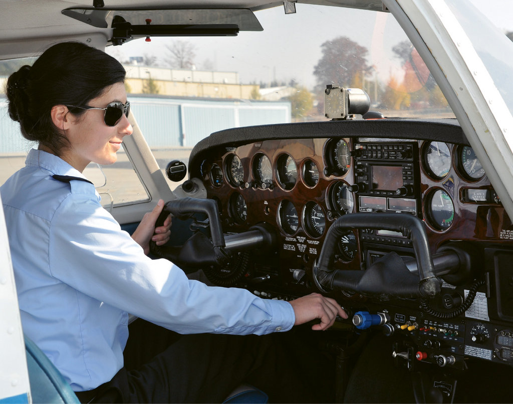 A-B Tech students on the Career Pilot Technology track combine classroom time with flight time at the Asheville Regional Airport through the school's partner, WNC Aviation.
