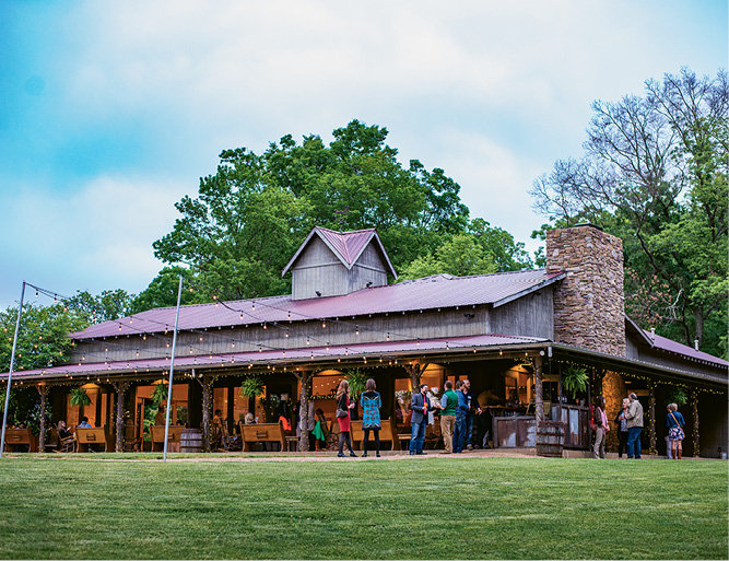 Guests enjoyed the serene setting at The Farm in Candler.