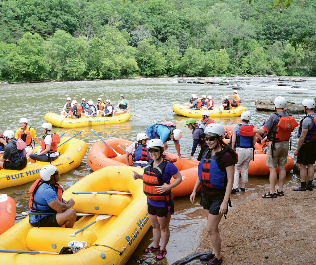 Outfitters like Blue Heron Whitewater in Madison County have become not only local economic drivers but also supporters of crucial nonprofits like RiverLink.