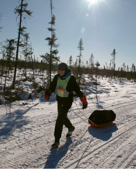 Arrowhead 135, Minnesota: Lowell ran this 135-mile winter ultra in 2007 to raise money for her student diagnosed with Stage IV cancer. With temps reaching -45°, Lowell was the only person on foot to finish the race.