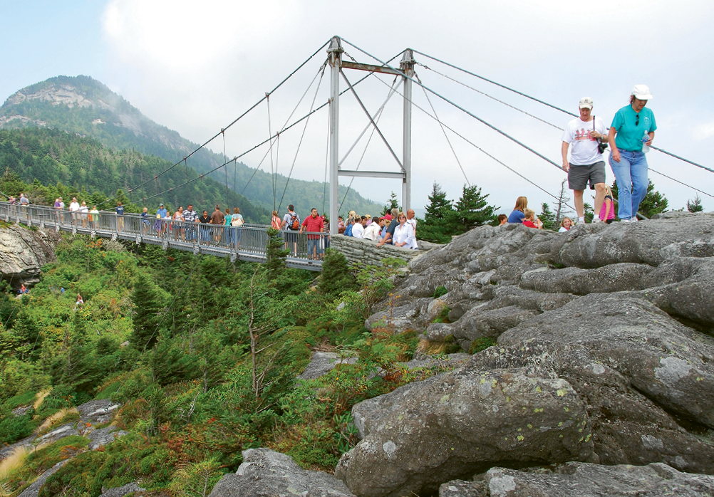 The Mile High Swinging Bridge