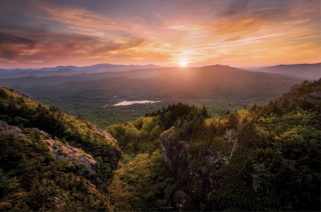Golden Hour - Sunset views from the Mile-high Swinging Bridge on Grandfather Mountain in the High Country