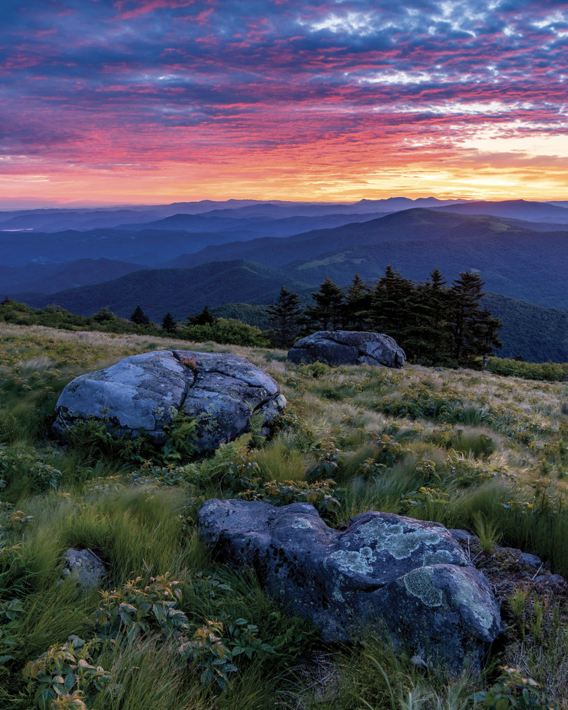 AMATEUR CATEGORY - Grassy Ridge - Jeff Huntley - At over 6,000 feet, a sunrise view from Grassy Ridge Bald in the Roan Highlands on the North Carolina/ Tennessee border is hard to beat.