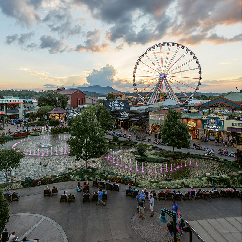 In Pigeon Forge, The Island  entertainment complex includes rides and games, 35-plus retail shops, restaurants, and a new  Margaritaville Island Hotel.