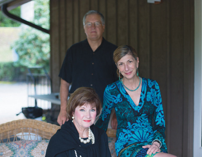 Karen and Chuck Tessier with BMC Director of Marketing Cally Jamis Vennare (center right)