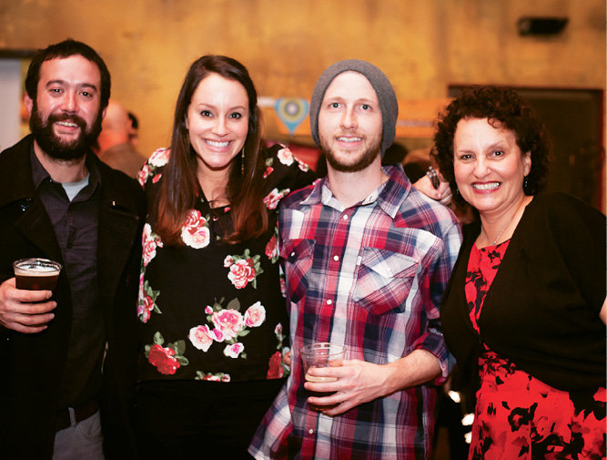 Adam Falcon, Sophie Miller, Sean Mack, and Town and Mountain owner Joy Lovoy