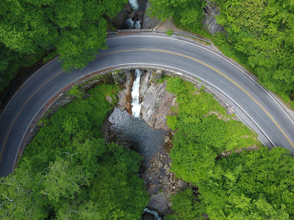 Honorable Mention: Sunburst Falls Bridge by Suzie Pressley (Amateur category)