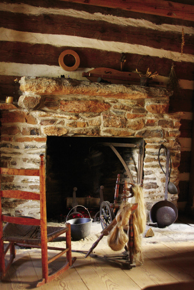 Acquiring, moving, and rebuilding the structures was only half the battle. The Harts have also labored to fill each one with authentic period furniture, instruments, tools, and other historical accoutrements.