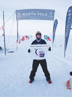 North Pole Marathon: Facing temperatures that hit -22°F, Thompson completed this marathon in 2014, racing for the American Cancer Society. He finished 13th in just over eight hours.