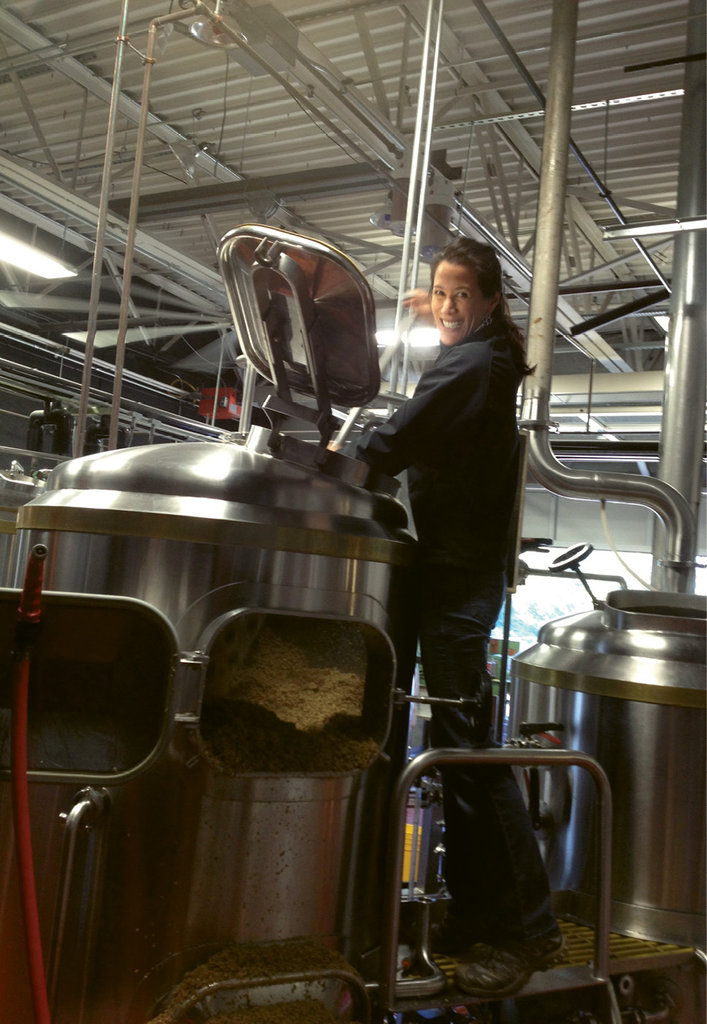 Hands On - Ashburn pitched in last year to make a special collaborative beer, with Asheville Brewing Company, to benefit the Pink Books Society, an international effort to support women's roles in the industry.