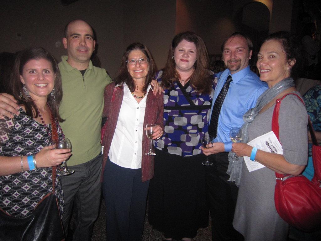 Susanne and Eric Jacobson, Myra Hinton, Katherine McGowan and Chris Shenar, and WNC Magazine's Deborah Lewis-Smith