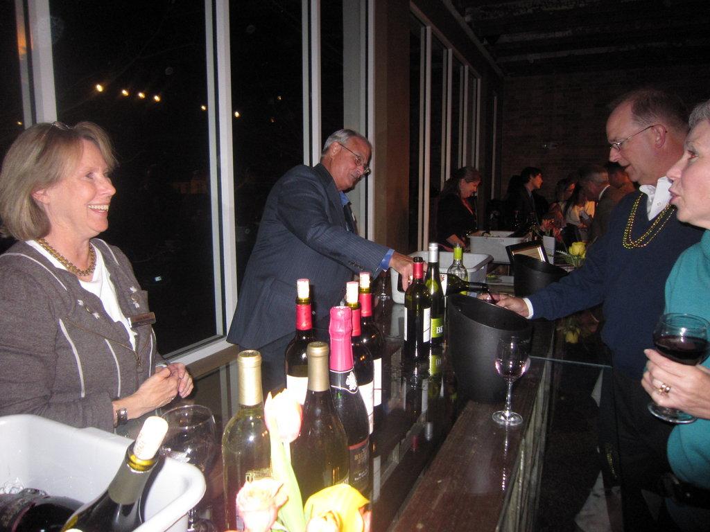 Wine tasting at the Taste of Compassion