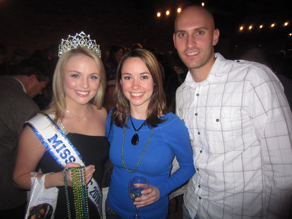 Miss WNC 2010 Gretchen Chandler with Heather Davis and Joe Lude