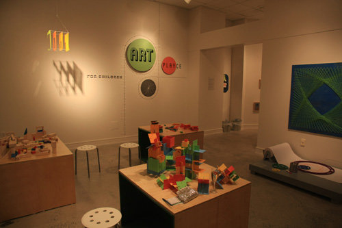 The new kids interactive art area
