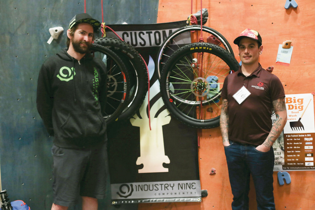 David Thomas and Drew Hager with Industry Nine, maker of bicycle wheels