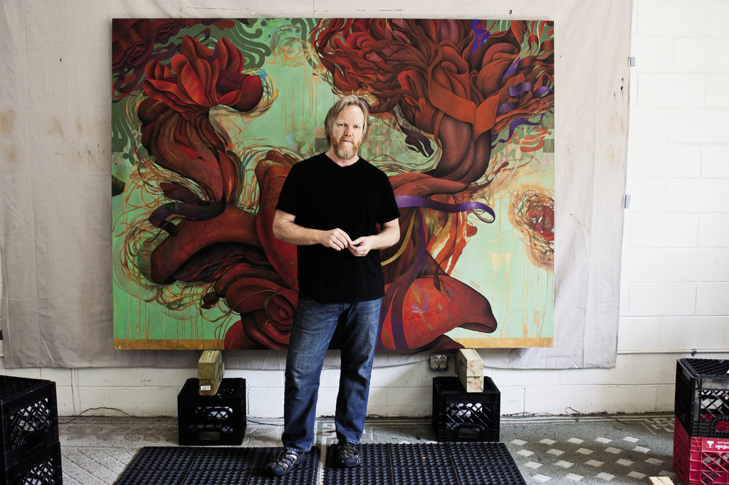 Daniel Nevins in his studio