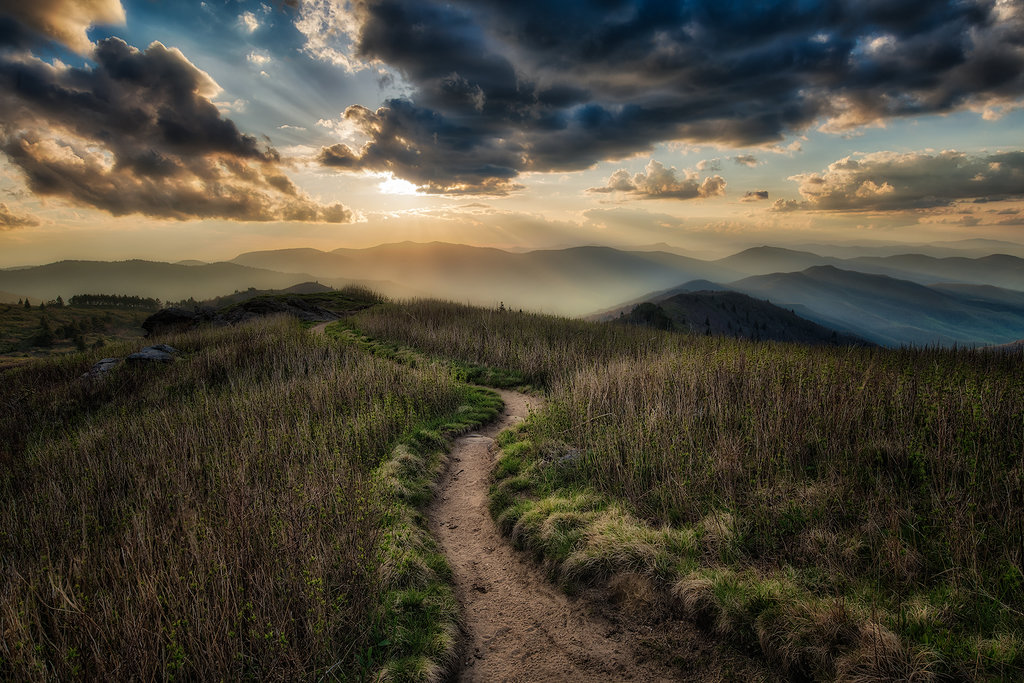 HONORABLE MENTION - A WALK TO THE SUN - Kevin Reaves - Shot from Tennent Mountain in Shining Rock Wilderness. Professional category