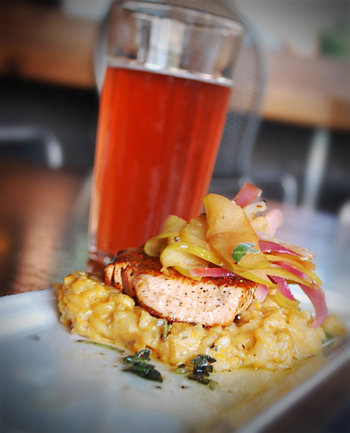 Small Plates 1st Place: LAB's Salmon Risotto by Bryan Roemer