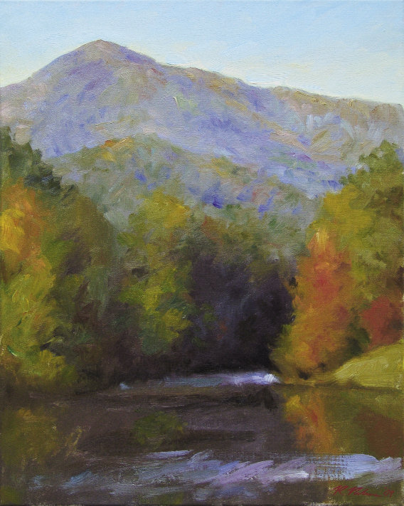 """Lake Lanier, 20"""" x 16"""", oil by Richard  Christian Nelson"""