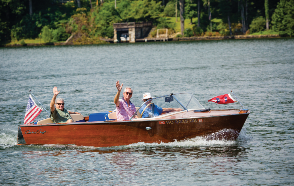 This 17-foot 1959 Chris-Craft ski boat was designed with a flat bottom and V-8 engine for serious water-skiers.