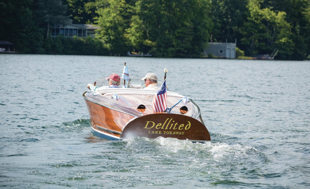 """Dellited"" is a 1941 Chris-Craft boat built in Algonac, Michigan. It was once housed in San Francisco, where it was featured in the Chuck Norris film An Eye for an Eye."