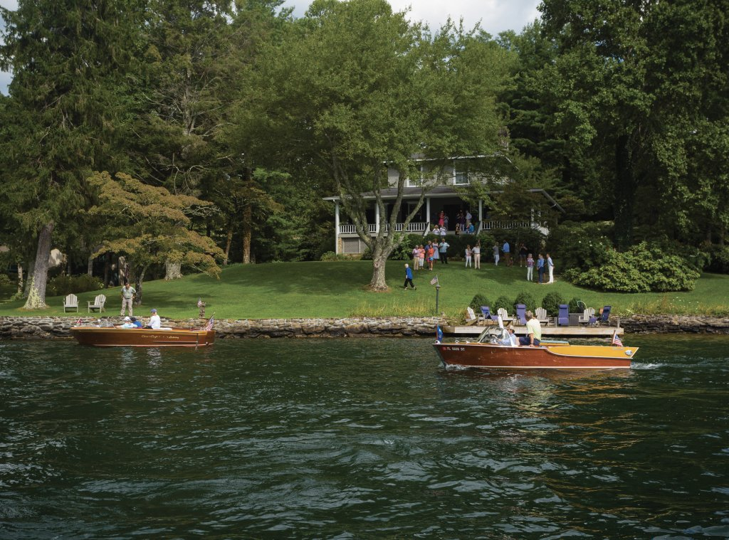 The 2019 boat parade closed with a cocktail party at a historic home on the lake. Fittingly, it was also a benefit for the Historic Toxaway Foundation, which strives to preserve the Toxaway community's history and provides guidance for revitalizing its future.