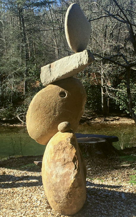 One of Peverall's more whimsical commissioned works, Minstrel, is at a private residence in Highlands. He and his son have completed about 50 such pieces, some of which can take up to a year from start to finish.