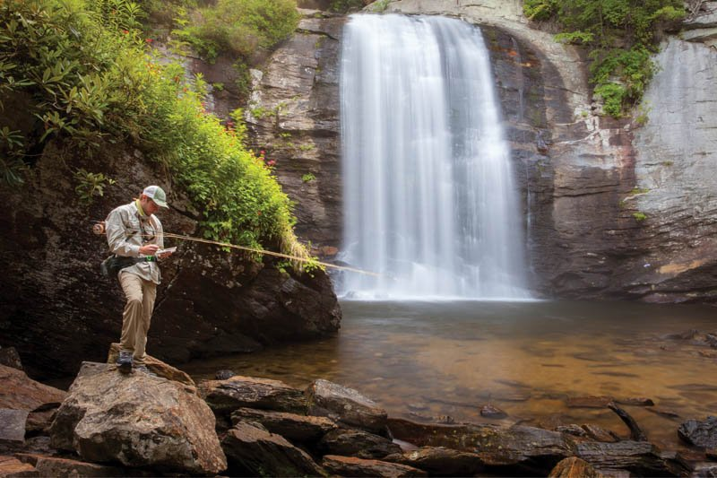 Bait and Switch - In September, after the crowds have receded, Looking Glass Falls returns to a peaceful sanctuary for casting a line.