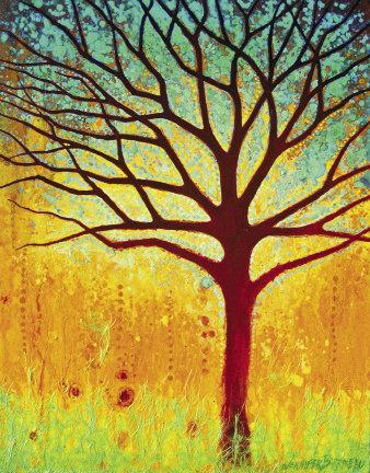 "The Magic Tree,  20"" x 16"", acrylic  by Jennifer Barrineau"