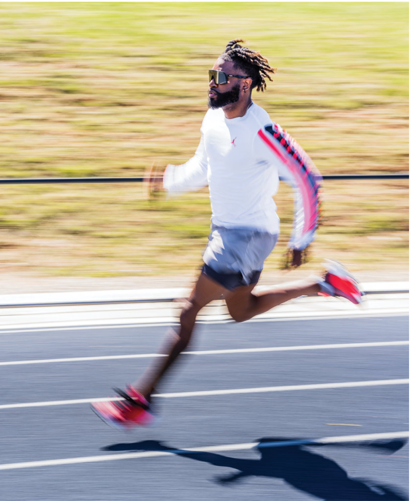 WNC native, Asheville resident, and Western Carolina University alum Manteo Mitchell is arguably the fastest man in the state and among the fastest in the world. The Olympic sprinter's best time in a 400m (roughly the distance of four football fields) relay split is 43.6 seconds. For comparison, the world record is 43.03 seconds.