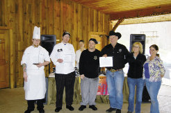 Competitors from Selu Garden Café,  Boojum Brewing, and Haywood Smokehouse