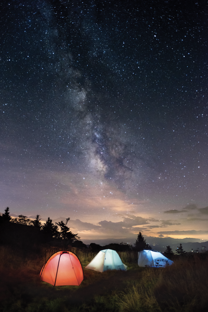 Under the Milky Way - Camping beneath the brilliant celestial display over Grandfather Mountain