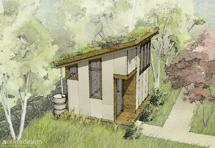 """The modern Mono blueprints and instructions are available for $39. Visit <a href=""""http://www.greenroofplans.com"""">www.greenroofplans.com</a>."""
