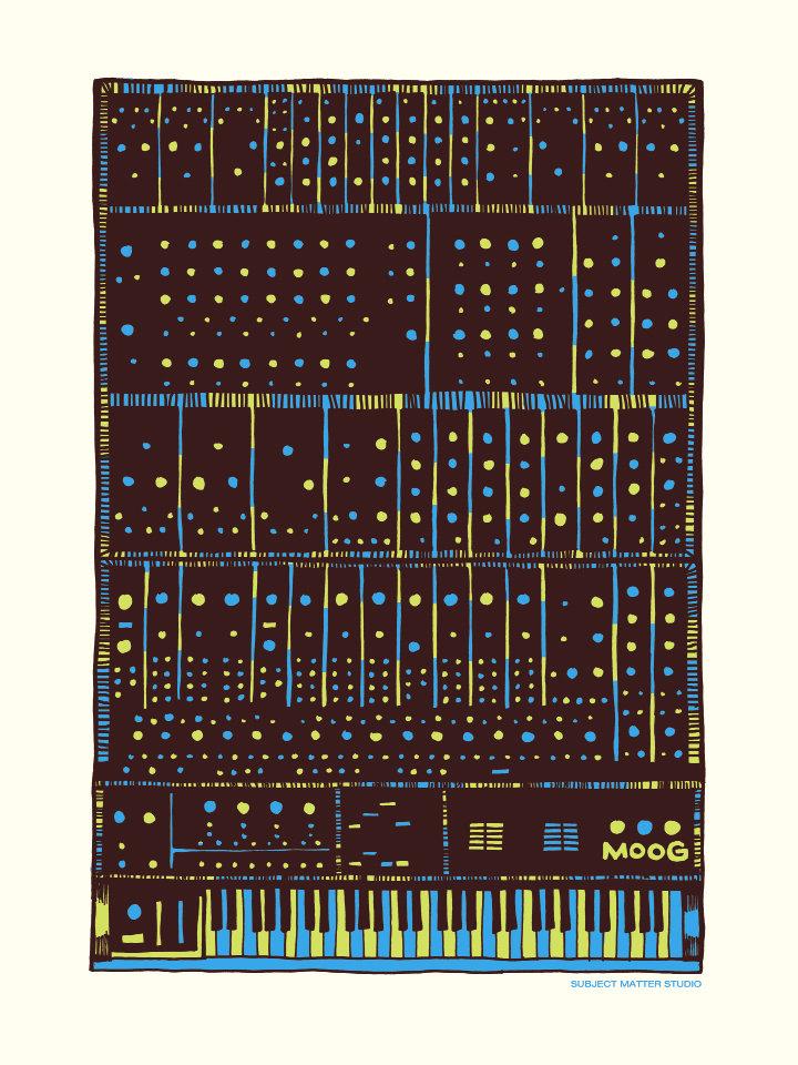 Moog art print. Courtesy of Drew Findley