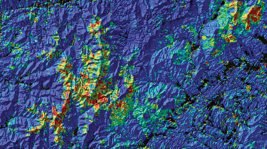 NEMAC facilitates understanding through visual tools, including a map application to help the U.S. Forest Service monitor forest disturbance.