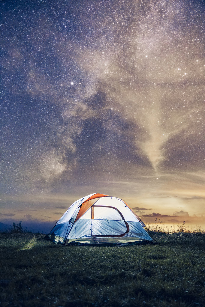 HONORABLE MENTION - MAX UNDER THE MILKY WAY - Nathan Bowery - Campsite at Max Patch. Amateur category