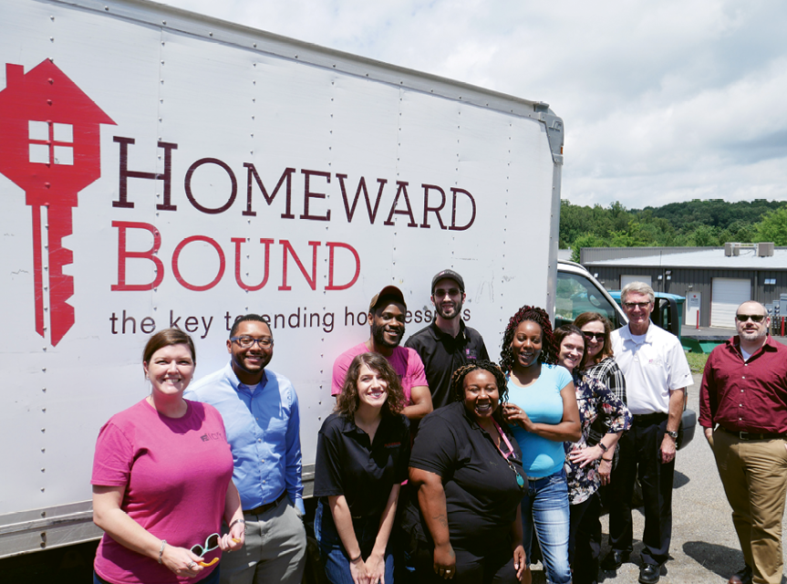 Helping Hands - Homeward Bound of WNC and Southern Appalachian Highlands Conservancy are among 10-plus local nonprofits that receive financial and volunteer support from McKibbon Hospitality.