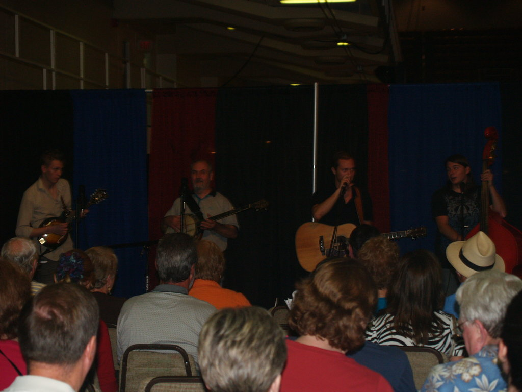 The Riders of the Green Laurel provide musical entertainment