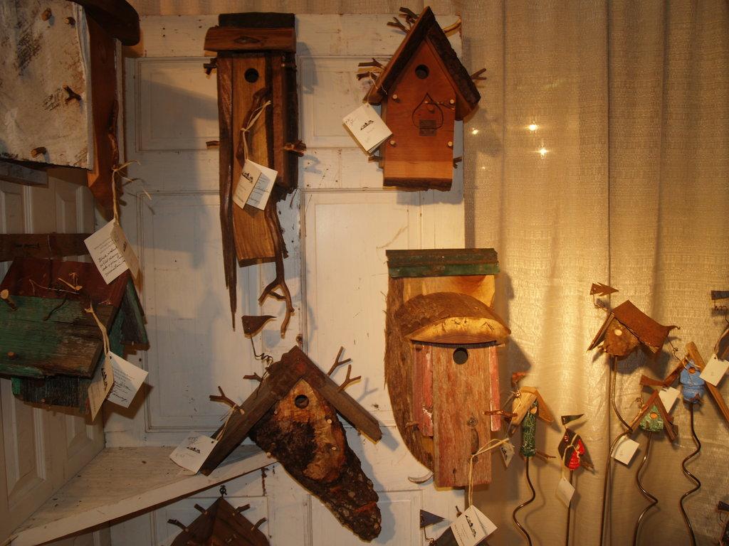 Walt Cottingham's ornate birdhouses