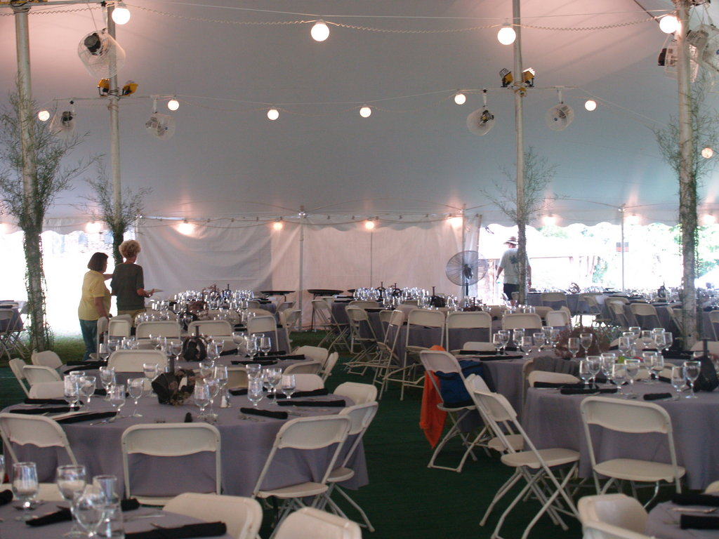The bidding tent is ready for its illustrious guests