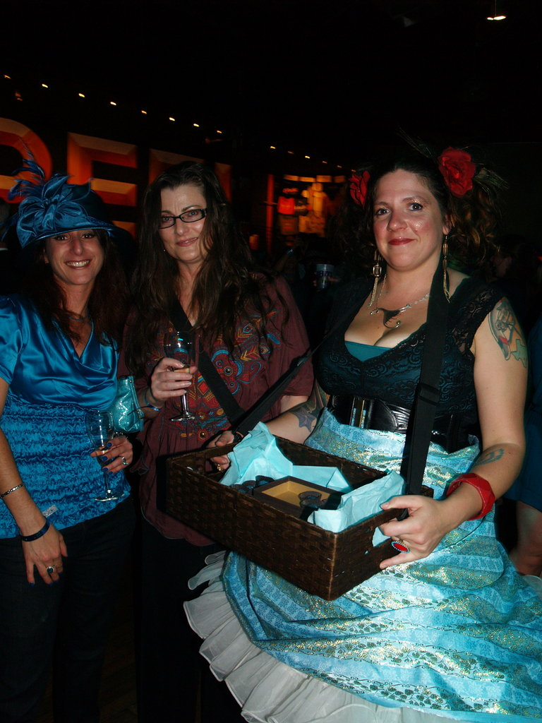 Andrea Dedmen and Alexa St. John try out treats from the French Broad Chocolate Lounge