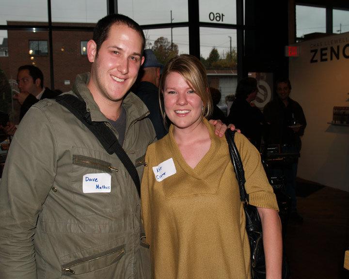 Asheville electronic musician Dave Mathes and Kat Cramer