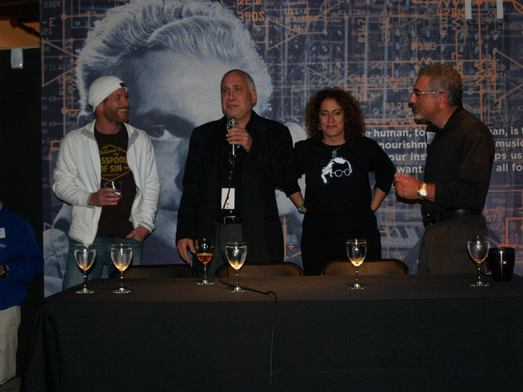 Press conference with heads of Music Allies, AC Entertainment, Bob Moog Foundation, and Moog Music