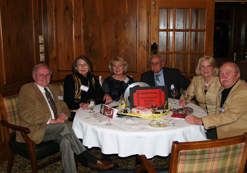 From left, Don and Ellie Michalove, Marge and Gene Duncan, Sabra Donnell, and Art Cooley enjoy the evening.