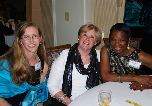 Emily Cowan, Shirley McGee, and Patricia Jones enjoying the fund-raiser for the Henderson County Community Foundation.