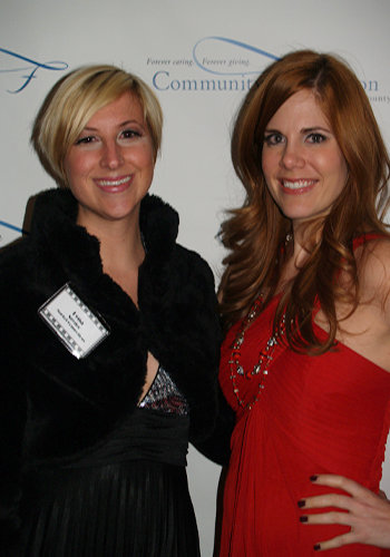 Dena Snyder and Sara Fields pause for a photo on the red carpet during the event at the Hendersonville Country Club.